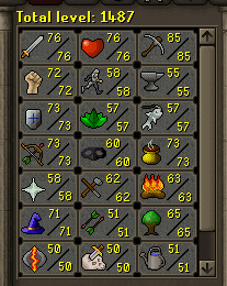 Level 85 mining from hours of powermining.