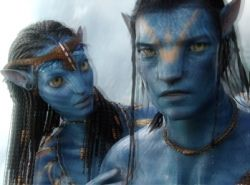 What a 3D movie typically looks like without glasses. If you've gotten sick from watching Avatar in 3D, I apologize for posting this image and bringing back bad memories :)