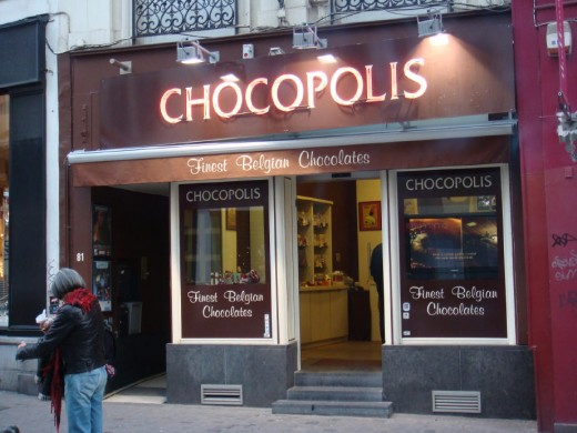 Not quite as chic as the others, but gosh, what a sight this chocolate megastore was!