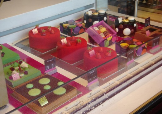 One of the windows at Fauchon, look this establishment up for major salivation.