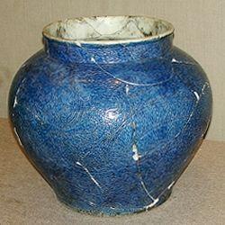 Xuan De Blue Dragon Ornamental Pot