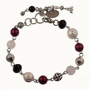 Burgundy Rosary Bracelet