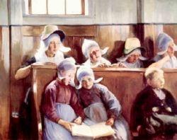 Dans l'Eglise a Volendam
