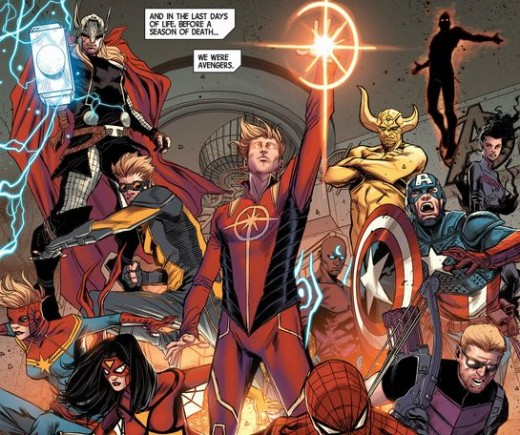 The Avengers Assemble from Avengers #17 (2013) a Prelude to The Marvel Infinity Event.