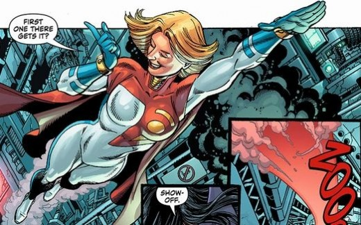Power Girl's New Suit from World's Finest #1 (2012)