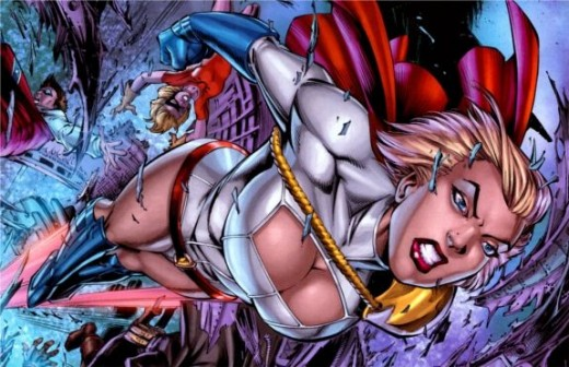 "A snapshot of Power Girl's ""pre-Second Wave"" costume from Justice League of America #45 (2010)"