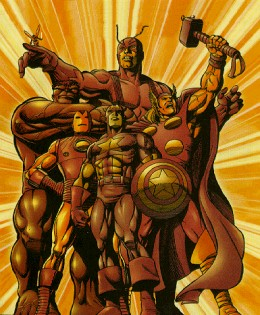 Statue Picture of the Original Founding Avenger Members