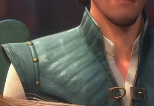 Detail shot of the vest's shoulder