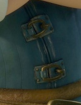 Buckle detail. The rings are held in place with hooks on the opposite side.