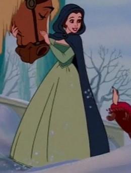 Dress skims the ground