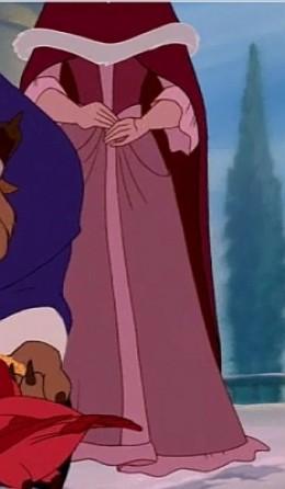 Dress and cloak