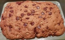 Chocolate chip bar cooked