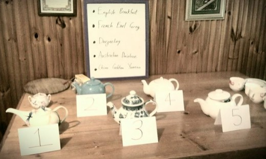 Blind tea tasting setup from my 25th birthday