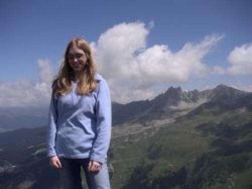 Me, enjoying the sunshine and mountain air!