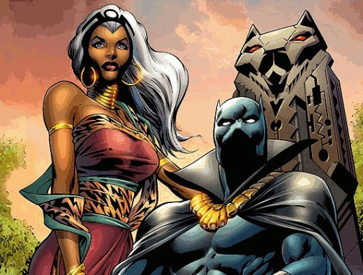 The Black Panther and Ororo (Storm)