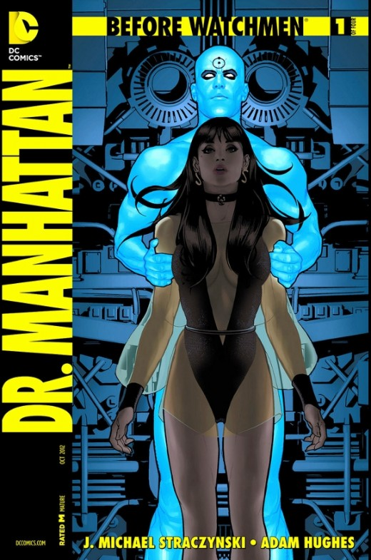Before Watchmen: Dr. Manhattan #1. A visit through the timeline of his existence, Dr. Manhattan questions quantum physics against chance and his accidental origin. For the first time, he moves to the past before he was created and learns that he shou