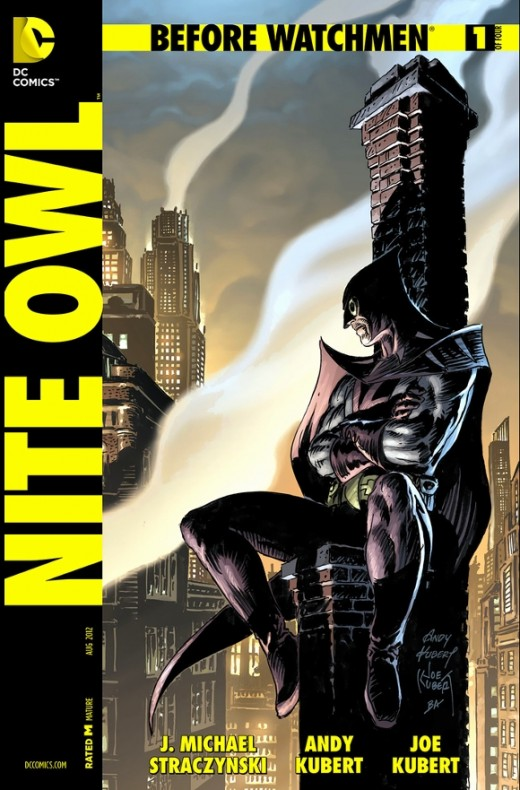 Nite Owl #1. After following the original Nite Owl to his hideout, Daniel Drieberg becomes the adopted ally of Hollis Mason, upgrading the hero with new gadgets and techniques, until the hero unexpectedly retires. Mason then tells Dan that he will be