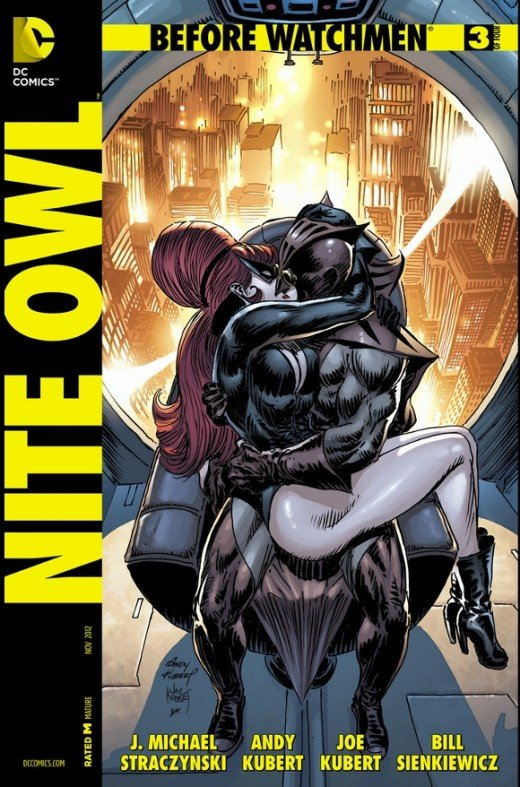 "Before Watchmen: Nite Owl #3. Dan ends up joining forces with Elizabeth Lane, the dominatrix of ""questionable"" adult activities, while searching for a killer of prostitutes. Lane also seduces him, beginning a very risky relationship. In the workshop,"