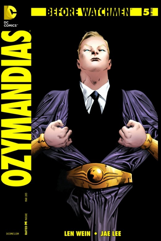 Ozymandias #5. Adrian is now in a quandary, and much of his efforts are spent trying to come up with a solution to the Doomsday Clock. Finally, he arrives at an option from an Outer Limits movie and sets his machinations in motion. The rest of the is