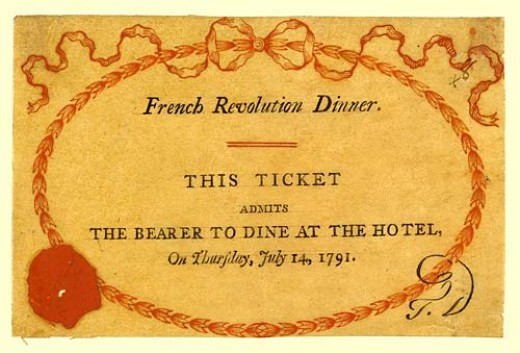 Ticket to the Infamous Dinner