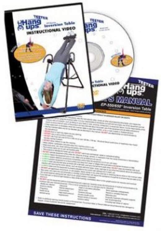 Instructions for use of Teeter HangUp Inversion Table