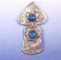 Fine Silver Dichroic Glass Pendant