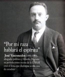 "The picture represents the phrase of Vasconcelos and the cosmic race: ""por mi raza hablará el espíritu"" it means ""By my race will speak the spirit"""