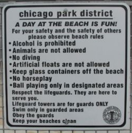 The rules at Hollywood Beach are the same as they are at other Chicago beaches, but the lifeguards are a bit more laid back about enforcing them.