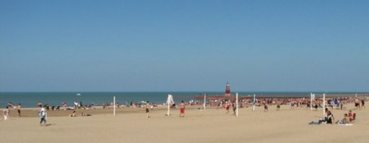 Hollywood Beach also known as Osterman Beach in Chicago