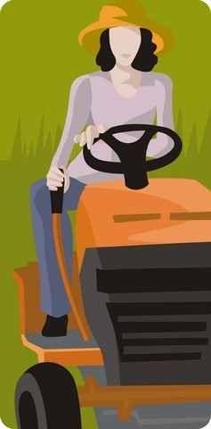 woman-lawn-mower