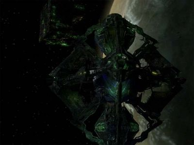 The Borg Queen's vessel in 2375