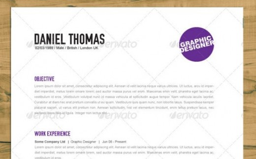 4 Piece Minimalist Resume Set W/ Icons  Good Font For Resume