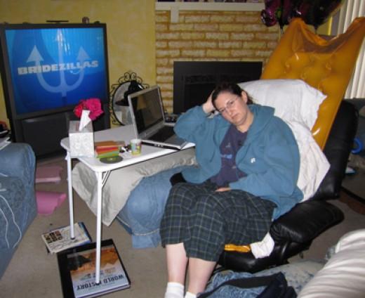 Bored stiff and bad TV!