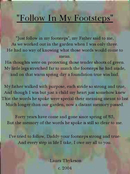 fathers day poems. Follow In My Footsteps. The