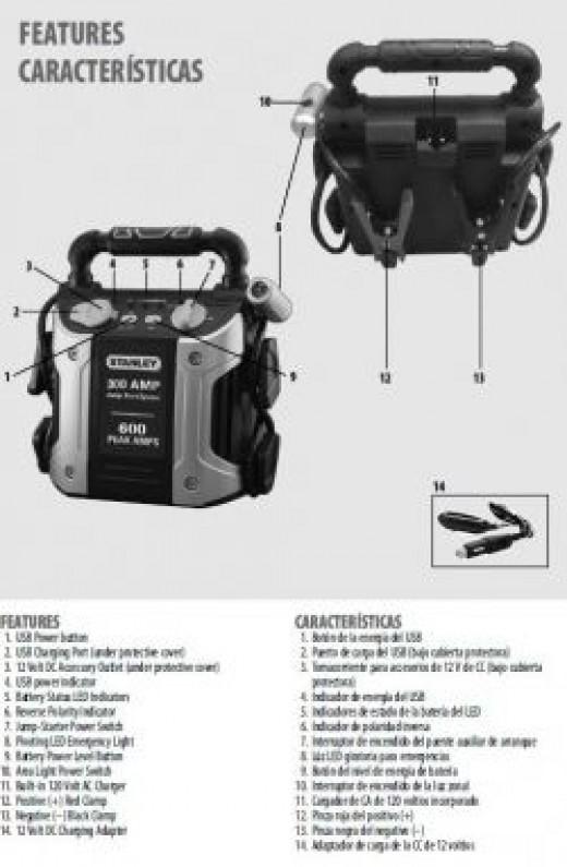 Stanley 300 amp jump starter