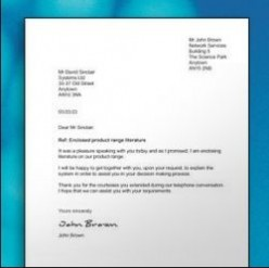 Professional Sample Letter | Letter Writing Tips