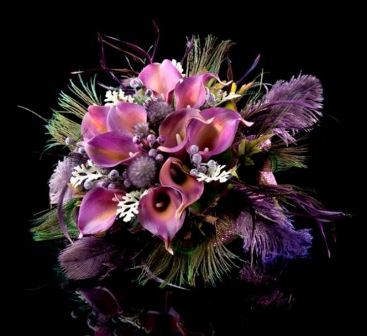 Beautiful Purple Wedding bouquet from the Little Bouquet Shop