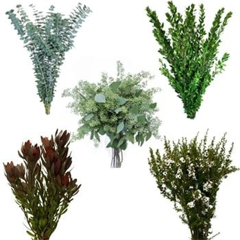 When you choose a wholesale flower company you'll find some charge by the bunch and add shipping, while others have a minimum order (usually around $100) which includes shipping. Rather than buying a lot of a single type of greenery, you mind it most