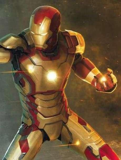 A look at the new Iron Man armor design in combat.