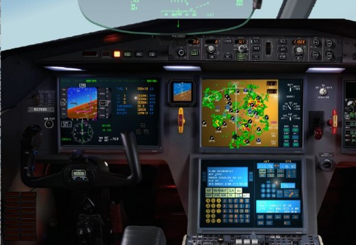 Falcon 7X cockpit