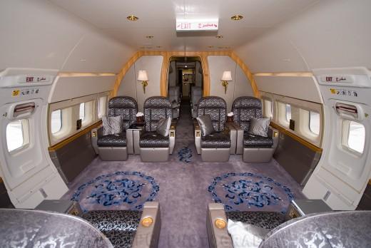BBJ passenger cabin