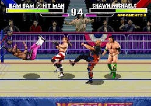 Wrestlemania: The Arcade Game was one of only two wrestling games released for the 32X.