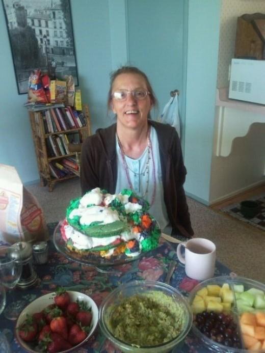 Rainbow Cake Disaster Photo Op