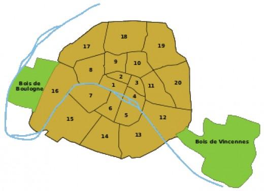Paris districts