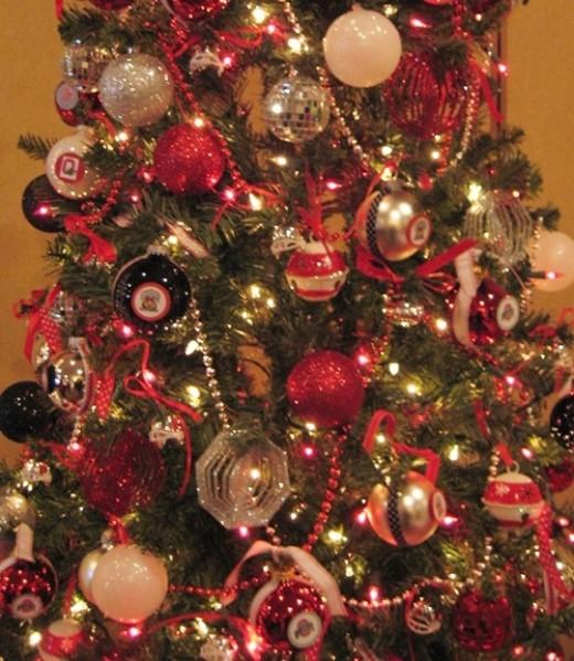 Ohio State Buckeyes Christmas tree