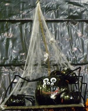 painted pumpkin spider