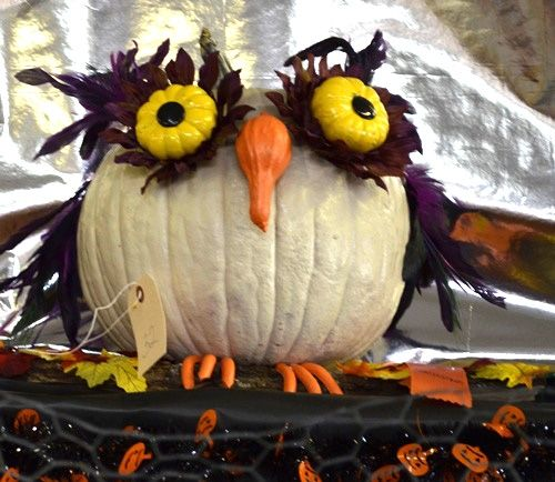 owl painted pumpkin