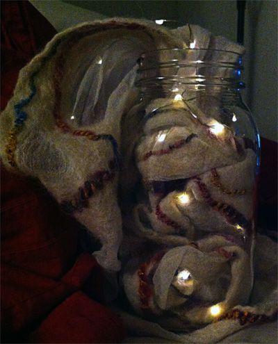 LED lit vase