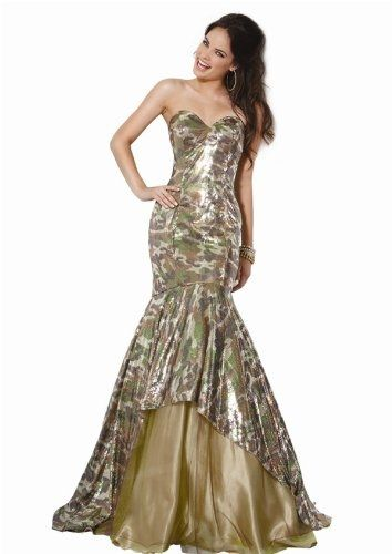 Jovani Camouflage Hourglass Dress