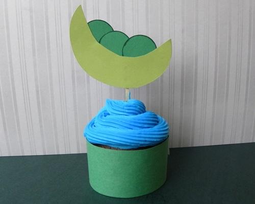 Sweet Pea Cupcake Topper